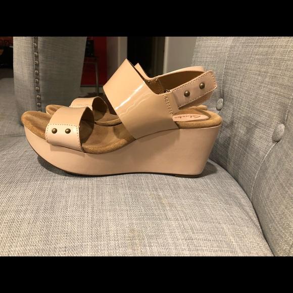 e2595abe54f Clarks Shoes - Nude Platform Clark Artisan Sandles